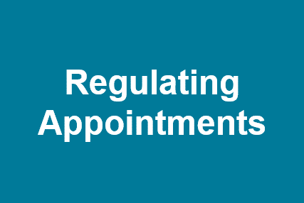Regulating Appointments